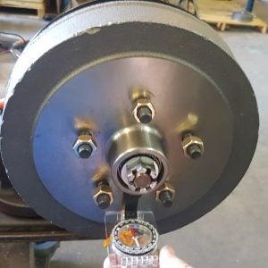 magnetised electric brake drum