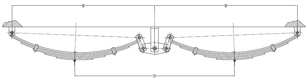 standard tandem hanger centers