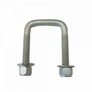 75mm x 50mm square galvanised U-bolt
