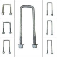 50mm Square Galvanised U Bolt Kit
