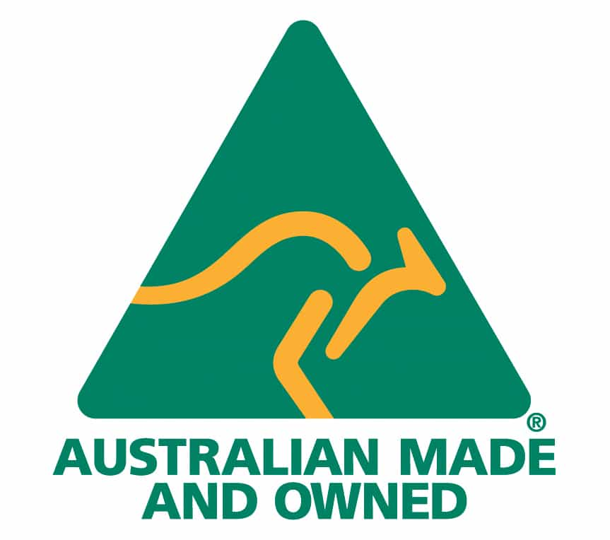 Australian Made and Australian Owned.