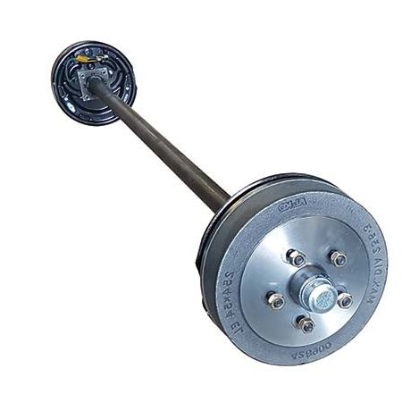45mm round electric braked axle