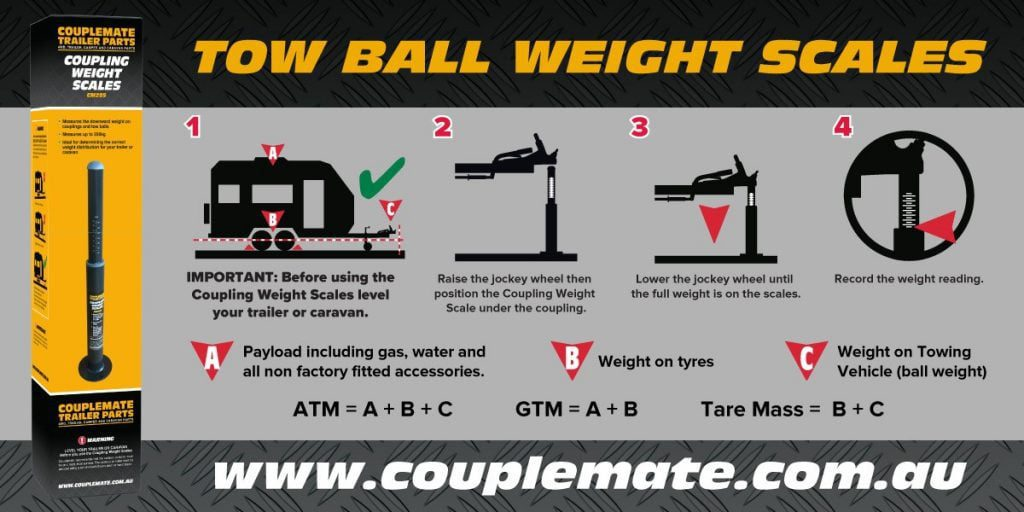 TOWBALL COUPLER WEIGHT SCALE