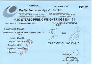 weigh bridge certificate