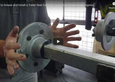 How To Install A Marine Seal To Your Axle.