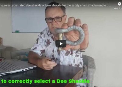 Selecting Rated Dee or Bow Shackles.
