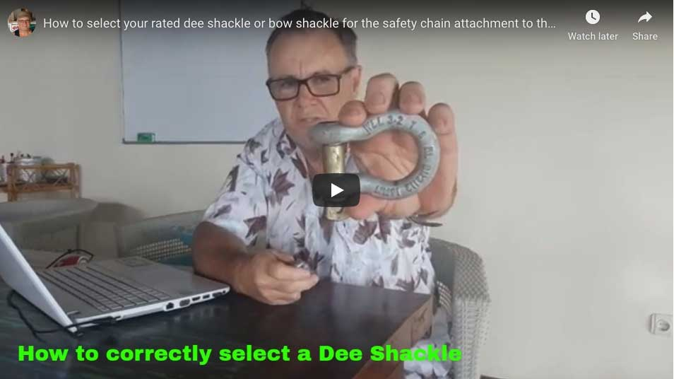 Dee shackle and Bow shackles.