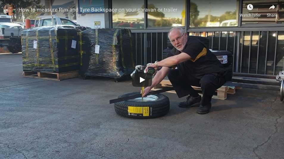 How to measure Rim & Tyre Backspace.