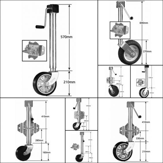Side Winding Jockey Wheel