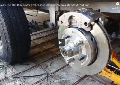 Stainless Top Hat Disc Rotor & Caliper Installation.