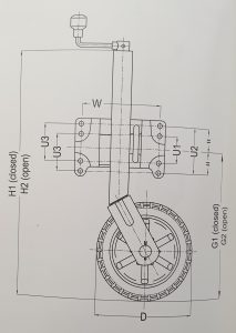 alko 4 hole swivel jockey wheel diagram