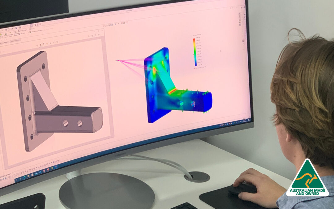 Engineer designing Australian Made trailer parts